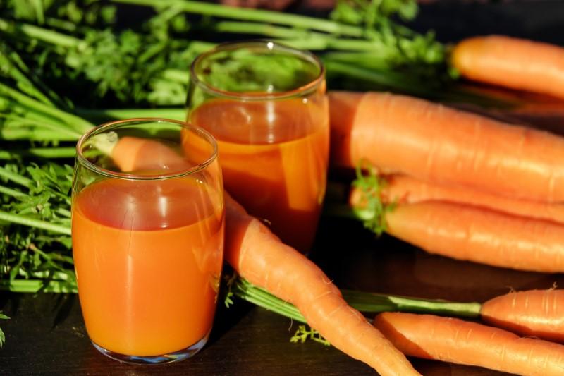 Hair vitamins - vitamin A in carrot